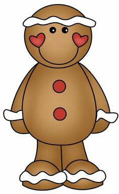Gingerbread clipart face #4