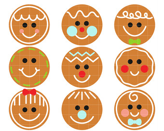 Gingerbread clipart face #9