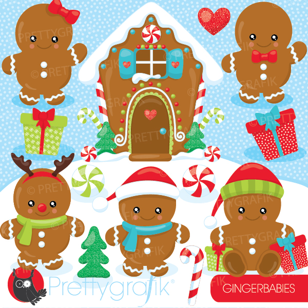 Gingerbread clipart gingerbread baby : 99 [CL930] baby Gingerbread