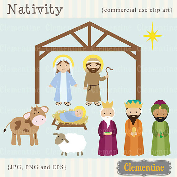 Gingerbread clipart nativity Etsy images clip on images