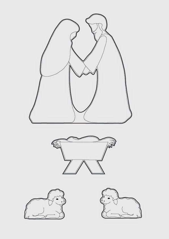 Gingerbread clipart nativity Elaine's 1 Nativity {Tutorial} Life: