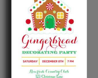 Gingerbread clipart party house Sweet Christmas Gingerbread Etsy Birthday