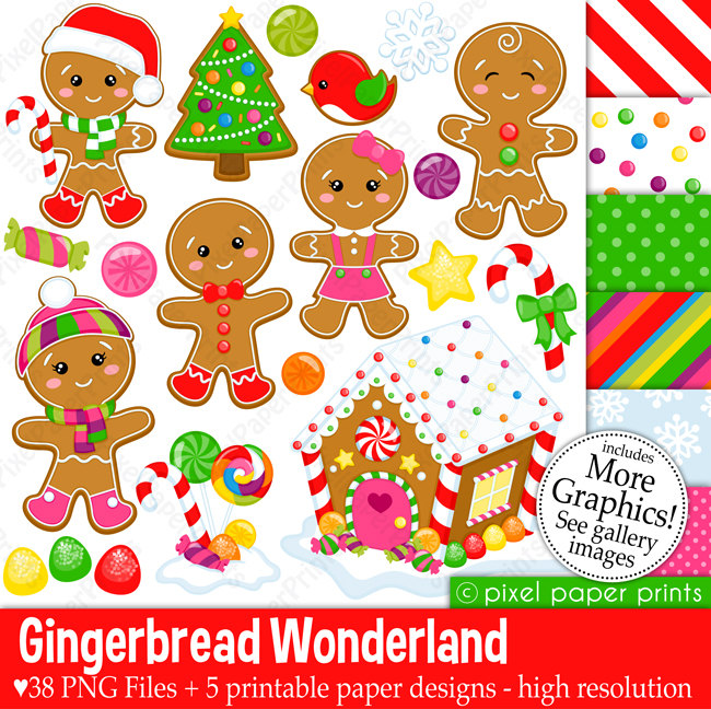 Gingerbread clipart party house Christmas Clip Gingerbread Art Wonderland