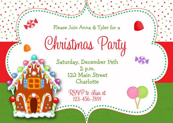 Gingerbread clipart party house Lollipops invitation Gingerbread Christmas house