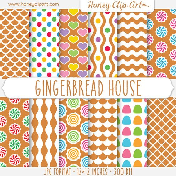 Gingerbread clipart party house Food  Clip Ginger Digital