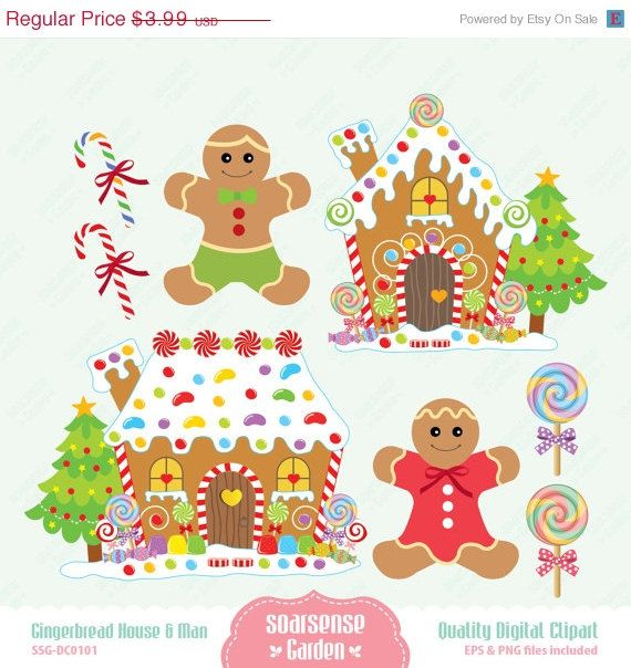 Gingerbread clipart party house 122 Gingerbread House Gingerbread Man