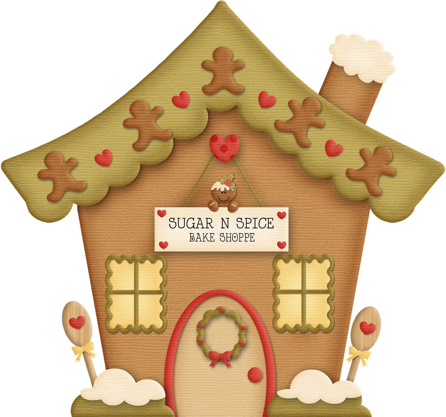 Gingerbread clipart plain  Clip Clip Cliparts House