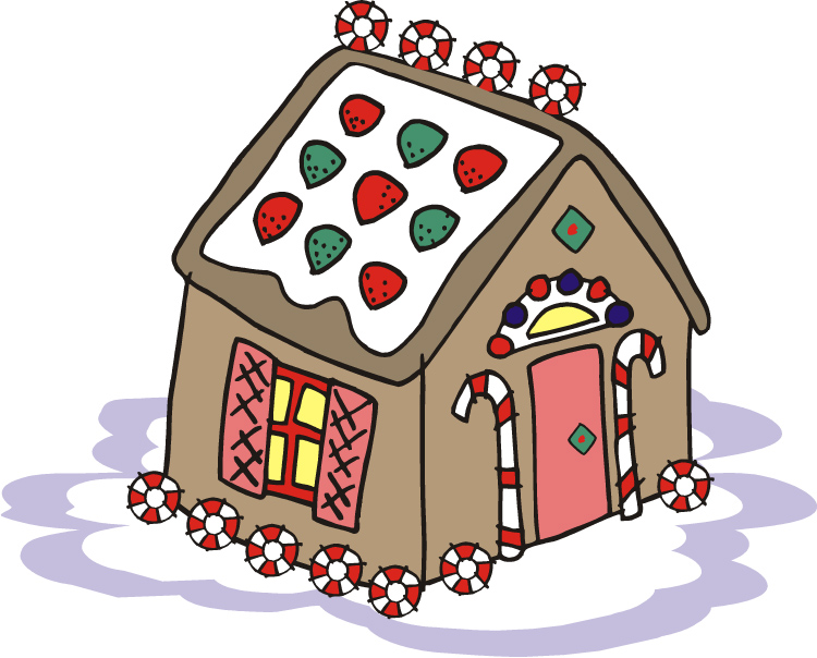 Gingerbread clipart plain Art Clip House Free Gingerbread