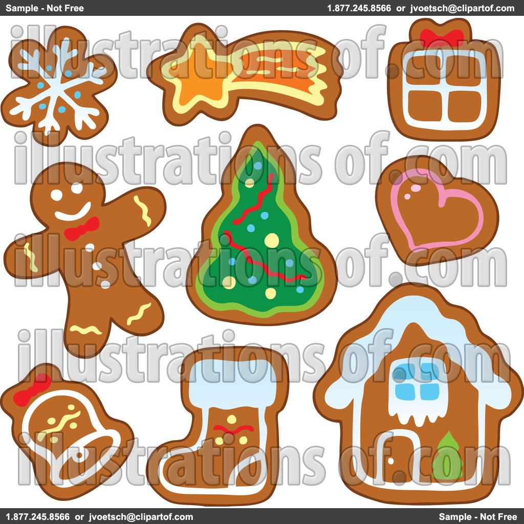 Gingerbread clipart plain Free Outline Art Art Gingerbread