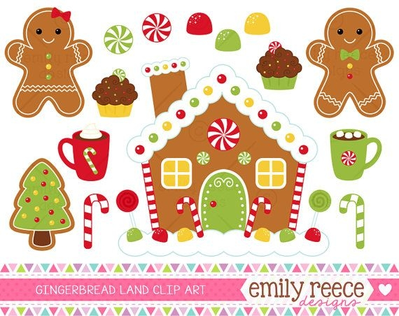 Gingerbread clipart plain Library Art House Gingerbread Gingerbread