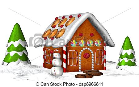 Gingerbread clipart santa claus house House House Royalty of a