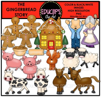 Gingerbread clipart story Educlips The The TpT Story
