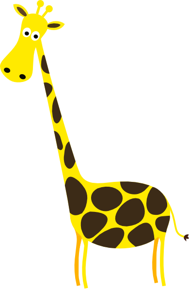Moving clipart giraffe Panda White And Giraffe Black