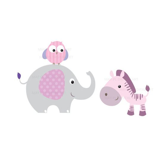 Baby Animal clipart pastel Cliparts Clipart Free Elephant Download
