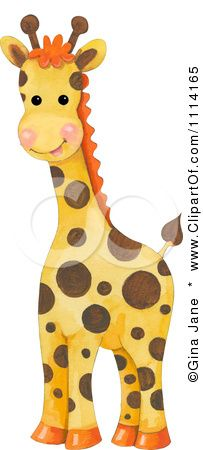 Animal clipart baby giraffe Illustration Seamless Gina by pattern