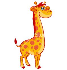 Giraffe clipart bathing Vector on on VectorStock giraffe
