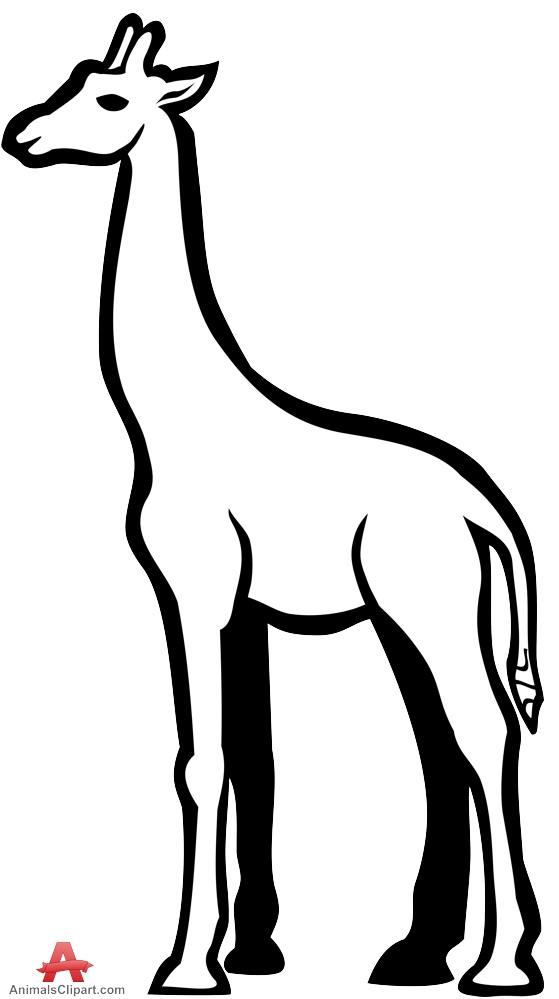 Black & White clipart giraffe Black Giraffe and and Clipart