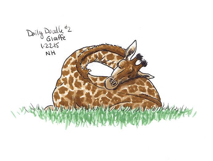 Giraffe clipart sleep Just No Giraffe Drawing custom