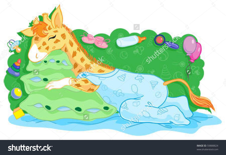 Giraffe clipart sleep Giraffe Baby Clipart Sleeping Clipart