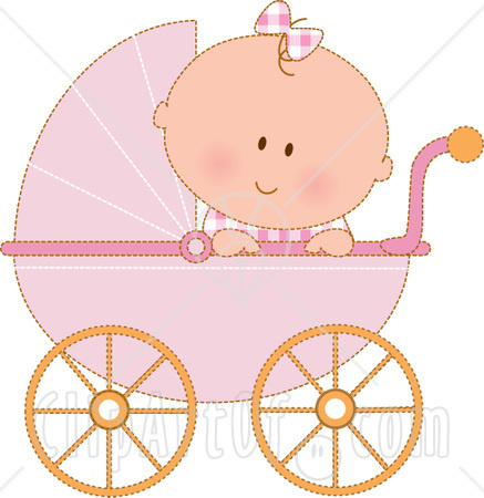 Carriage clipart baby shower 1 · vector  baby