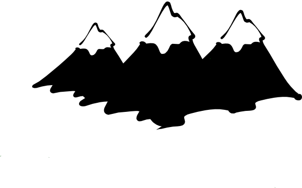 Summit clipart black and white  Range Art Mountain White