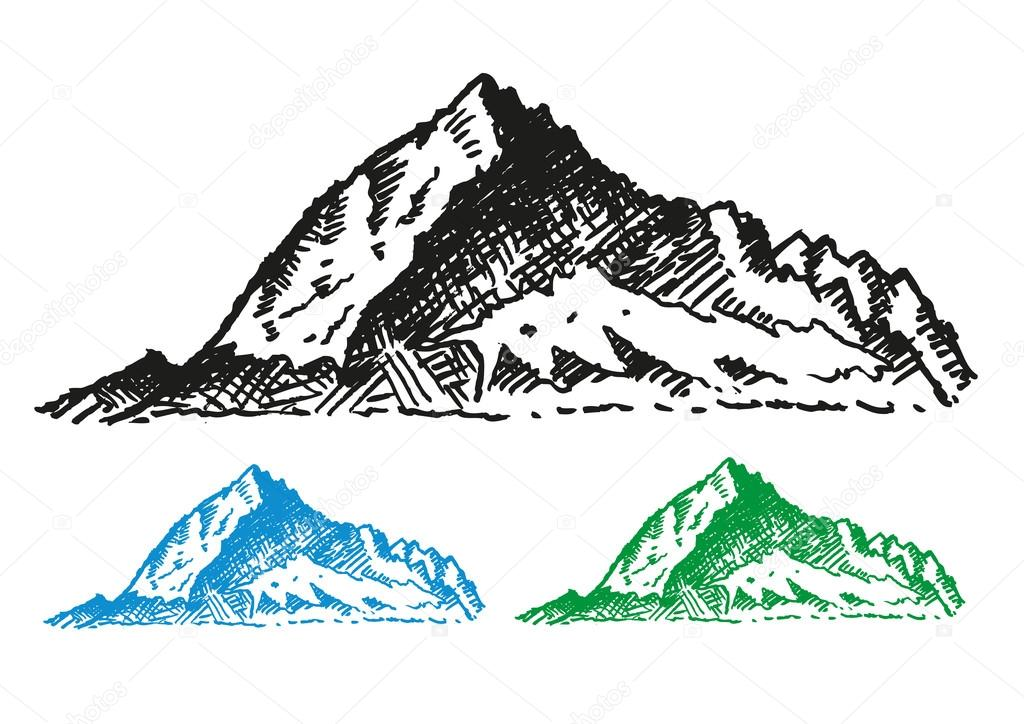 Summit clipart mountain background Sketch and Editable # Mountain