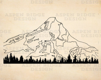 Peak clipart glacier Mt Download Digital Art Download