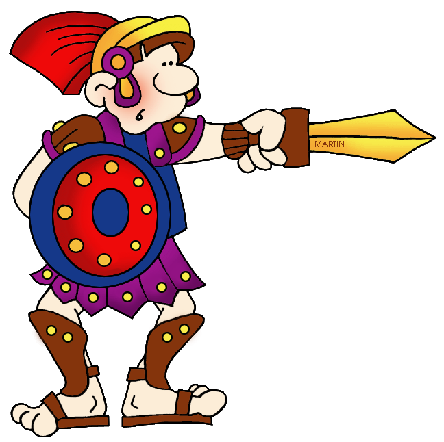 Gladiator clipart warrior shield Panda Gladiator Free Clipart Images