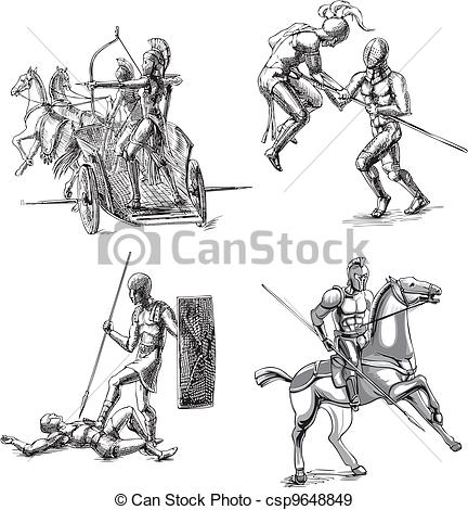 Gladiator clipart ancient history Csp9648849 Gladiator Ancient of Sketches