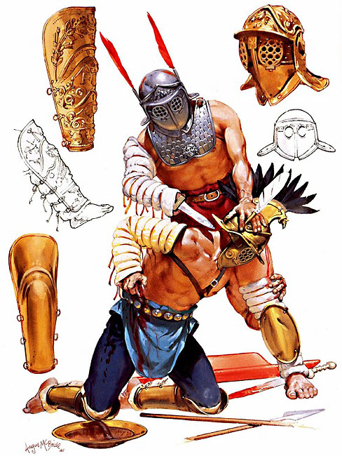 Gladiator clipart roman person Romans c Provocator and Pinterest
