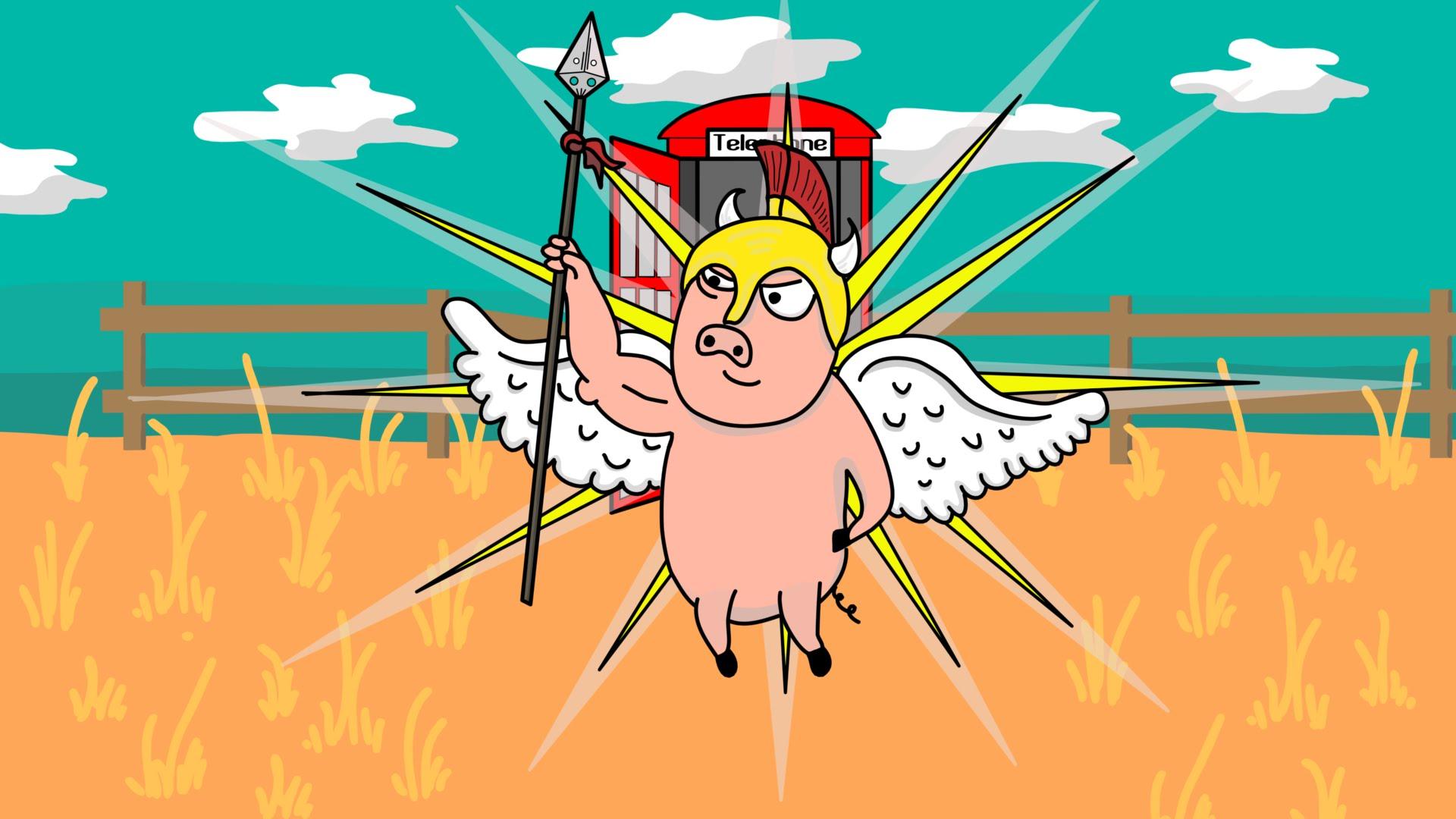 Gladiator clipart animated Animation Gladiator Pig YouTube Gladiator
