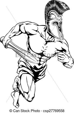 Gladiator clipart art Character An Clipart csp27769558 a