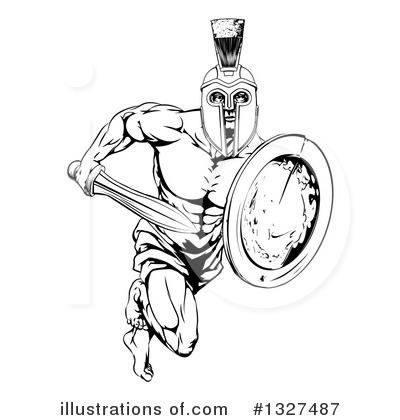 Gladiator clipart art By AtStockIllustration Gladiator (RF) #1327487