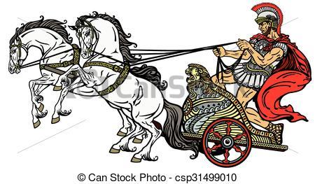 Rome clipart chariot racing Vector Vector Clip roman warrior