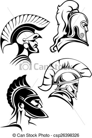 Gladiator clipart head Gladiators Outline or heads of