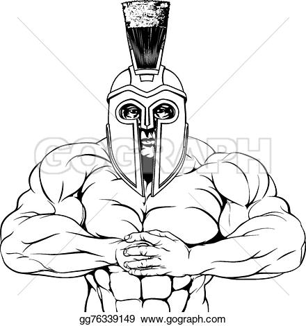 Gladiator clipart mascot Clipart spartan or Stock fight