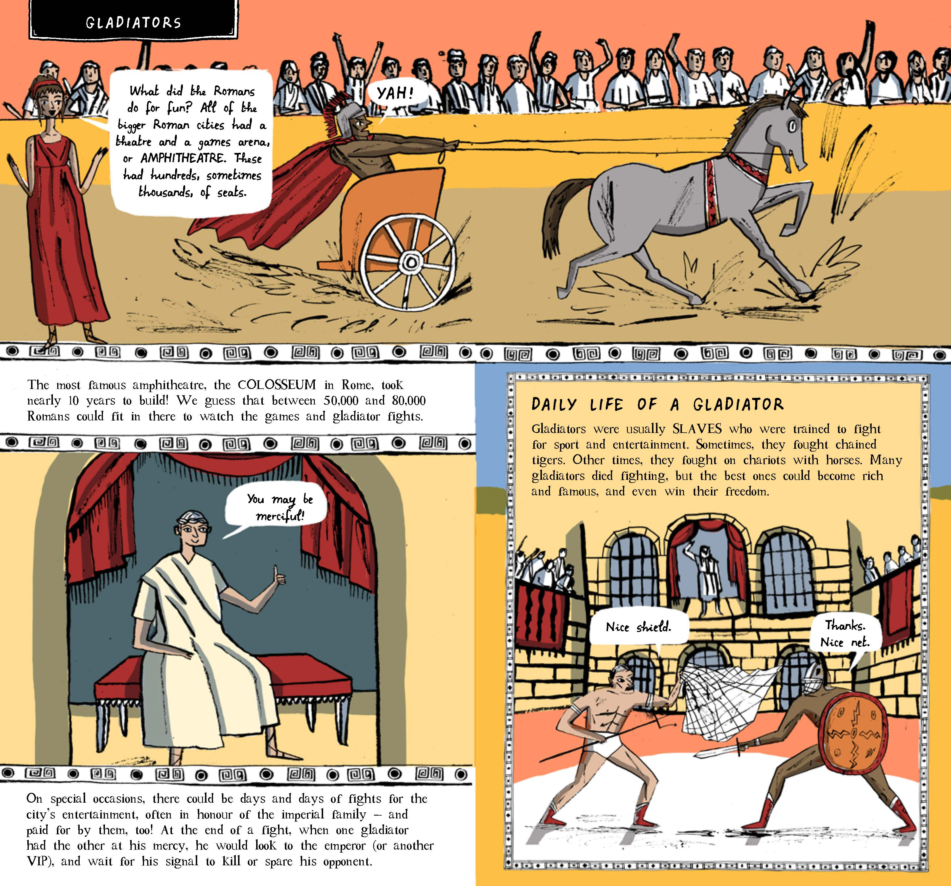 Gladiator clipart roman building The Discover Ancient and Empire_Page_16