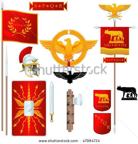 Gladiator clipart roman emperor Symbols  Vector Romanus Senatus