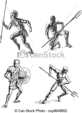 Gladiator clipart roman gladiator Sketches Sketches Ancient Illustration Gladiator