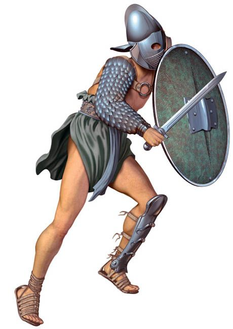 Gladiator clipart roman person Best a of was secutores)
