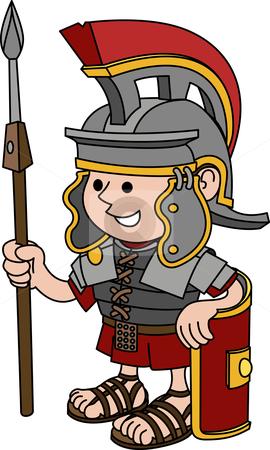 Gladiator clipart roman soldier Illustration Roman soldier of of