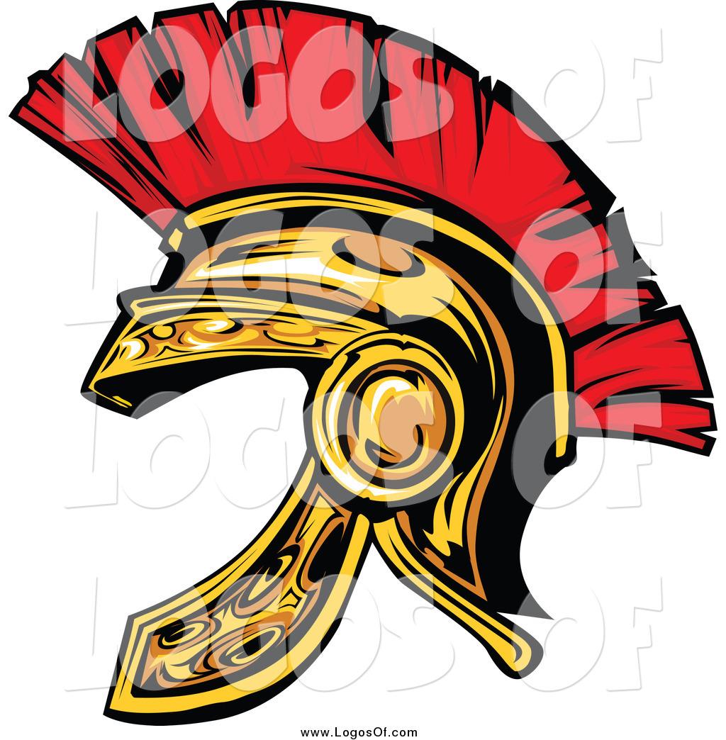 Gladiator clipart sparta Helmet of Spartan a Gold