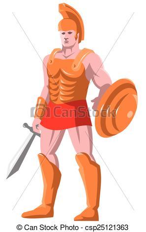 Gladiator clipart Warrior centurion of centurion Clip
