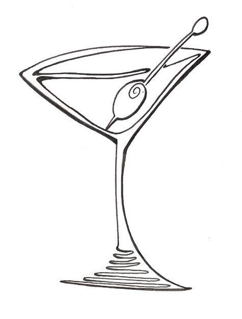 Whit clipart martini glass Clipartix Clip Glass glass line