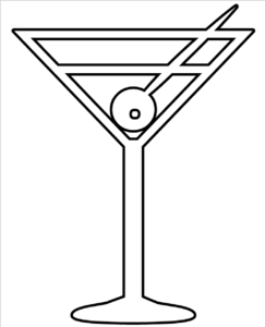 Whit clipart martini glass Clip Clker at Outline Martini