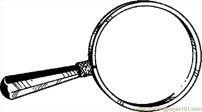 Drawn glasses magnifying glass Coloring Page Glass School Coloring