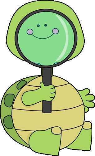 Turtle clipart detective #1