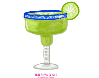 Champagne clipart party Margarita Etsy art Glasses clip