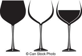 Black clipart wine glass #7