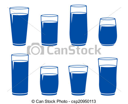 Blue Water clipart glass water Water Vector set sparkling blue
